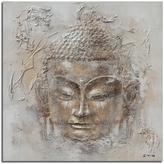 """Safavieh Buddha Orange and White"""" Painting"""