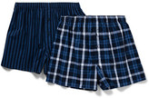 David Jones 2 Pack Woven Boxer