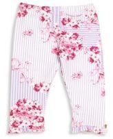 Versace Baby's Floral-Print Stripe Leggings