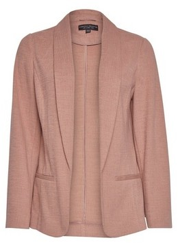 Dorothy Perkins Womens Pink Textured Jersey Blazer, Pink