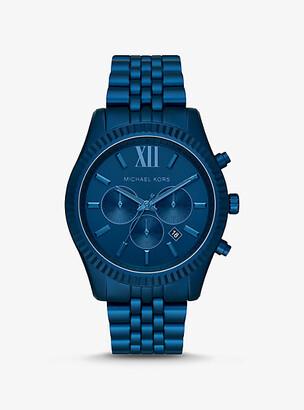 Michael Kors Oversized Lexington Navy-Tone Aluminum Watch