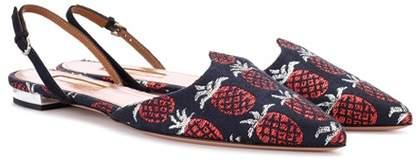 Aquazzura Sultana brocade slingback sandals