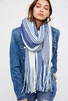Free People Kolby Striped Fringe Scarf