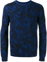 Z Zegna leaf patterned sweatshirt - men - Cotton - XL