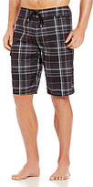 O'Neill Santa Cruz Plaid Board Shorts