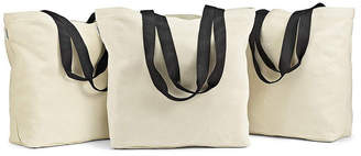 Fit & Fresh Set of 3 Large Canvas Grocery Totes