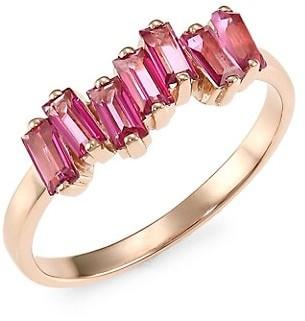 Suzanne Kalan 14K Rose Gold & Pink Topaz Ring