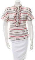 Chloé Striped Linen Top