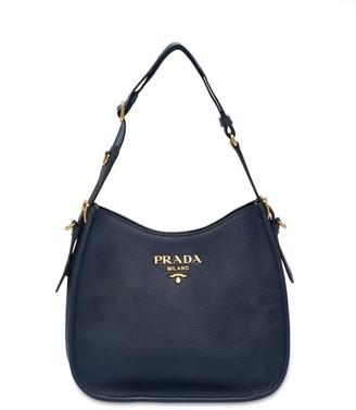 Prada Small Daino Leather Hobo Bag