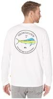 Quiksilver Waterman Fish Hero Long Sleeve (White) Men's Clothing