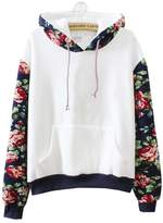 Followme2shop Cute Sweaters Cute Hoodies Sweater Pullover Warm Fleece Lined Flowers Sleeve