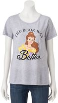 """Disney Disney's Beauty and the Beast Juniors' Classic """"Book Was Better"""" Tee"""