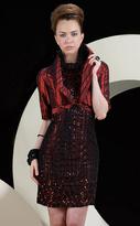 MNM Couture - 5818 Pinstriped Bolero Halter Dress