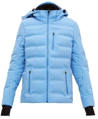 Aztech Mountain Nuke Quilted-down Technical Ski Jacket - Womens - Light Blue