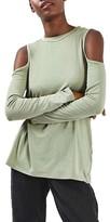 Topshop Women's Cold Shoulder Tee