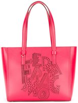 Salvatore Ferragamo perforated logo tote - women - Calf Leather - One Size