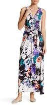 Loveappella Graphic Print Self-Tie Maxi Dress (Petite)