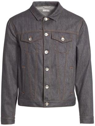 Brunello Cucinelli Wool Denim Trucker Jacket