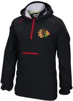 Reebok Men's Chicago Blackhawks Center Ice Anorak Pullover Jacket