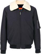 A.P.C. contrast collar bomber jacket