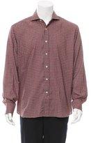 Canali Plaid Button-Up Shirt