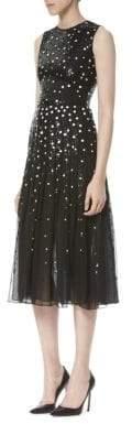 Carolina Herrera Silk Sequin Embellished Dress