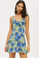 Topshop Heavy Petal Knot Front Mini Sundress
