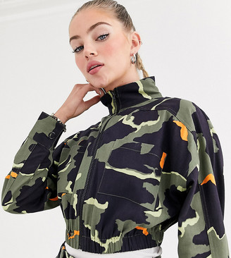 COLLUSION cropped camo utility jacket