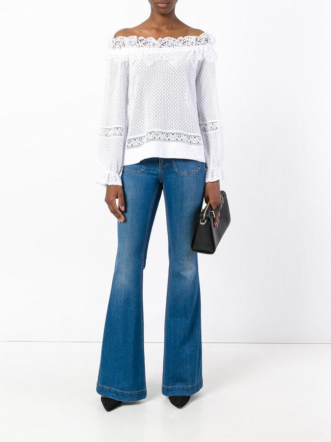 Alberta Ferretti off-shoulder lace blouse
