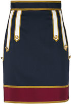 DSQUARED2 military mini skirt - women - Cotton/Polyester/Spandex/Elastane/Virgin Wool - 40