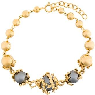 Kasun London Orb And Three Pearl Bracelet