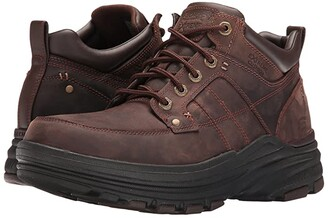 Skechers Relaxed Fit Holdren - Lender (Dark Brown Leather) Men's Lace-up Boots