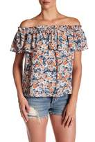 Current/Elliott The Floral Ruffle Blouse