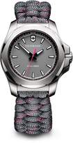 Victorinox Women's 241771 I.N.O.X. Watch with Grey Dial and Grey/Pink Paracord Strap
