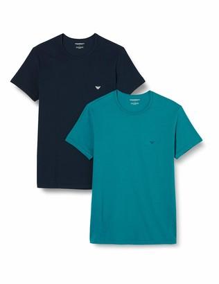 Emporio Armani Men's Multipack-Pure Cotton 2-Pack T-Shirt