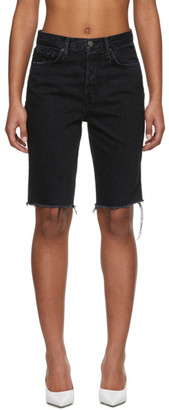 GRLFRND Black Denim Beverly Shorts