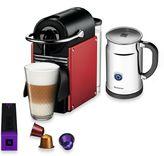 Nespresso Pixie A C60-US-TI-NE Espresso Machine and Aeroccino Plus Bundle in Titanium