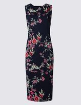 Marks and Spencer Floral Print Scuba Sleeveless Bodycon Dress