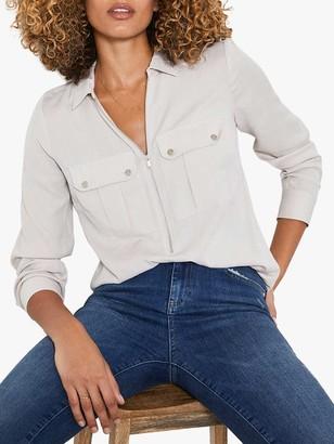 Mint Velvet Utility Zip Front Shirt