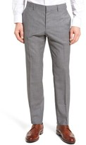 BOSS Men's Genesis Flat Front Check Wool Trousers