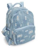 Bari Lynn Kid's Distressed Denim Backpack
