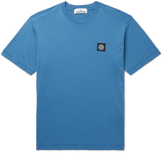 Stone Island Logo-Appliqued Cotton-Jersey T-Shirt