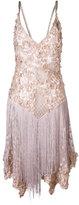 Amen floral appliquée fringed dress - women - Polyamide/Polyester/Viscose/Aluminium - 40