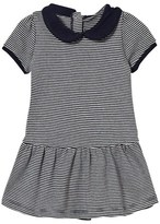 Petit Bateau Navy Stripe Collared Jersey Dress