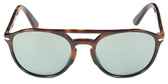 Persol 55MM Faux Tortoiseshell Aviator Sunglasses