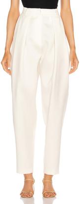 Magda Butrym Shaldon Pleated Pants in Cream | FWRD