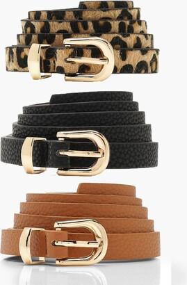 boohoo 3 Pack Skinny Belt