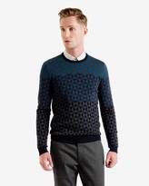 Ombré Pattern Wool Jumper