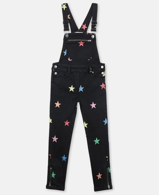 Stella Mccartney Kids Stella McCartney glitter stars denim dungaree
