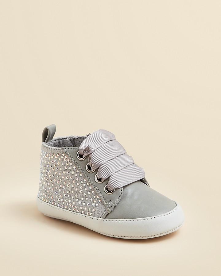 Stuart Weitzman Girls' Vance Crystal Sneakers - Baby